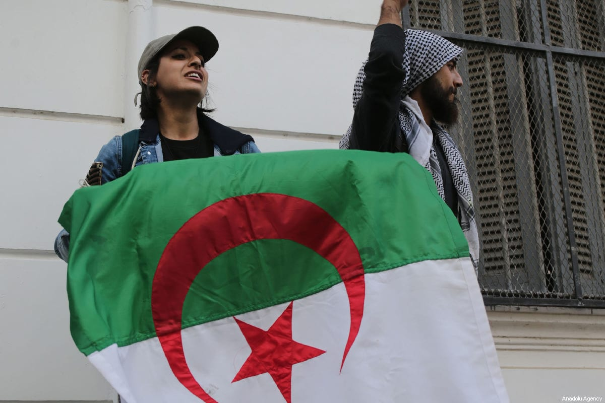 Algerian university students protest against candidacy of President Abdelaziz Bouteflika for a fifth term in Algiers, Algeria on 26 February 2019. [Farouk Batiche - Anadolu Agency]