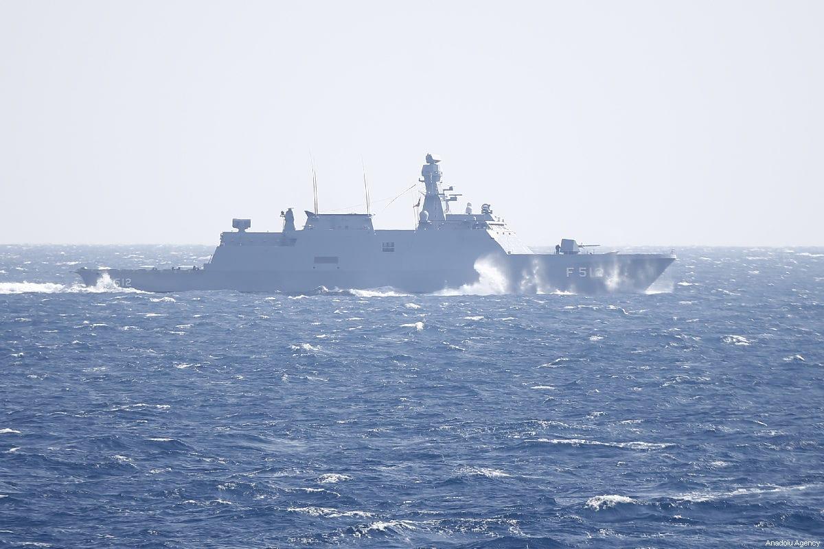 A frigate takes part in 'Blue Homeland 2019' naval drill in Antalya, Turkey on 27 February, 2019 [Mustafa Çiftçi/Anadolu Agency]