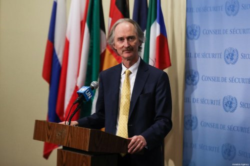 Geir Pedersen, Special Envoy for Syria of the UN and High Representative of the European Union for Foreign Affairs and Security Policy in New York, US on 28 February 2019 [Atılgan Özdil/Anadolu Agency]