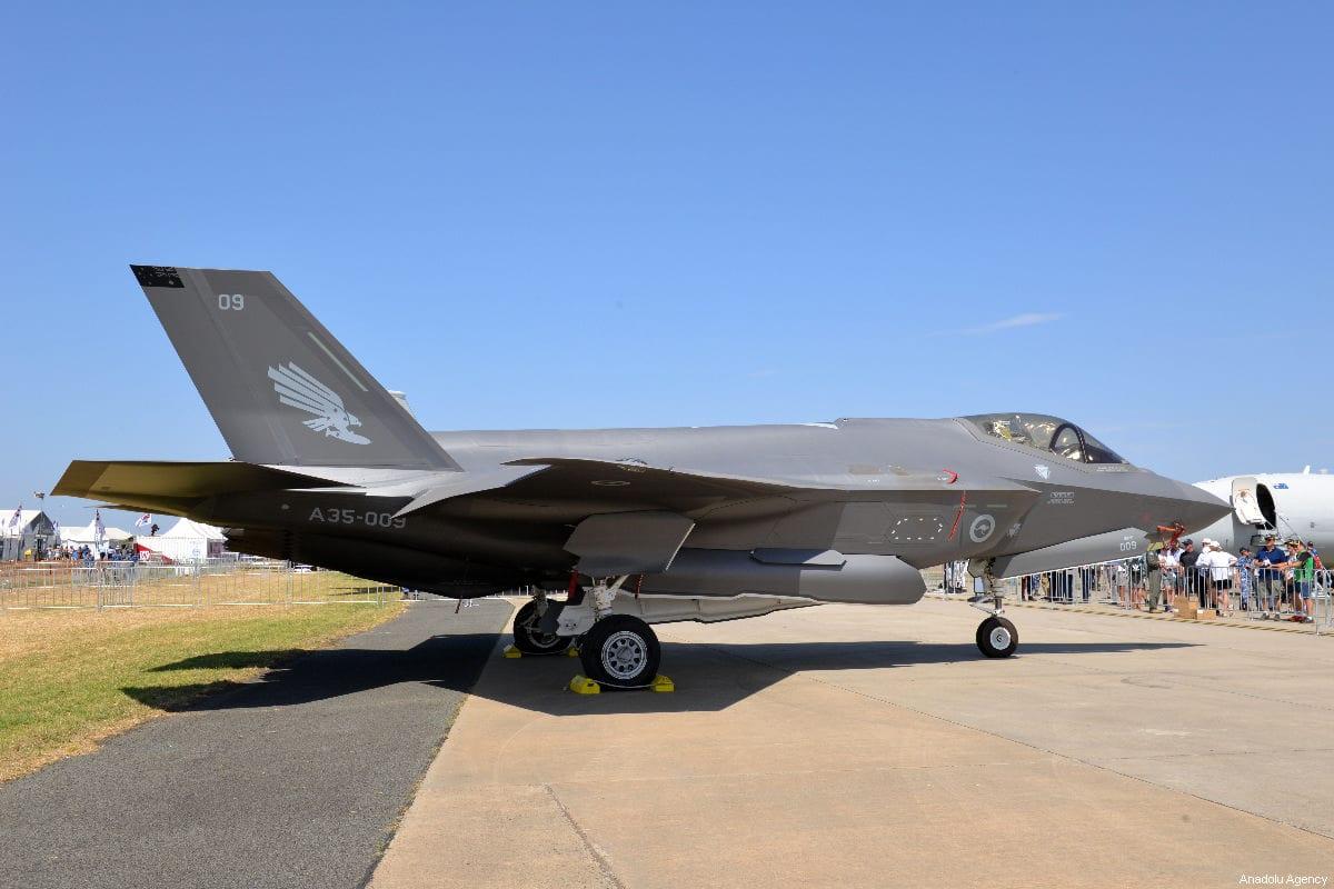 F-35 Lightning fighter jet n in Geelong, Australia on 1 March, 2019 [Recep Şakar/Anadolu Agency]
