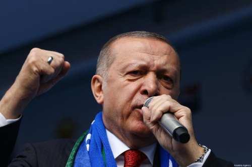 President of Turkey and the leader of Turkey's ruling Justice and Development (AK) Party, Recep Tayyip Erdogan on 2 March, 2019 [Volkan Furuncu/Anadolu Agency]
