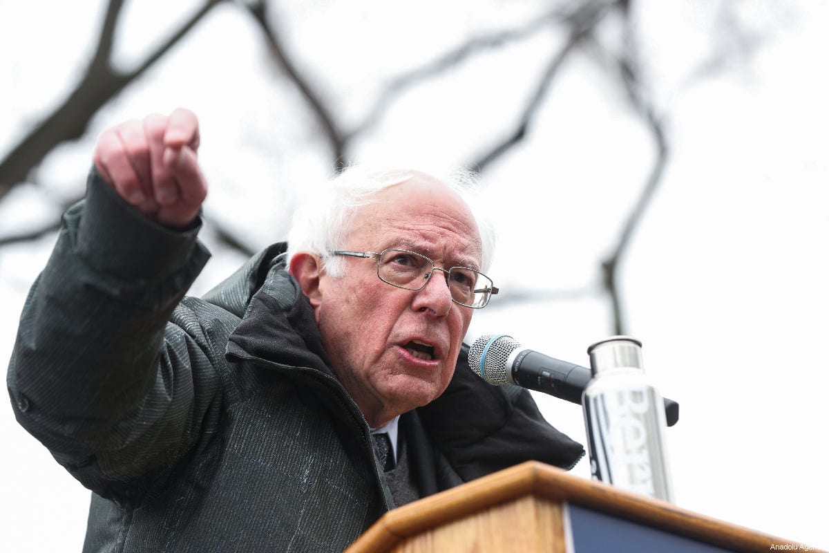 Vermont Senator Bernie Sanders delivers a speech during his first presidential campaign rally at Brooklyn College in New York, United States, 2 March 2019. 