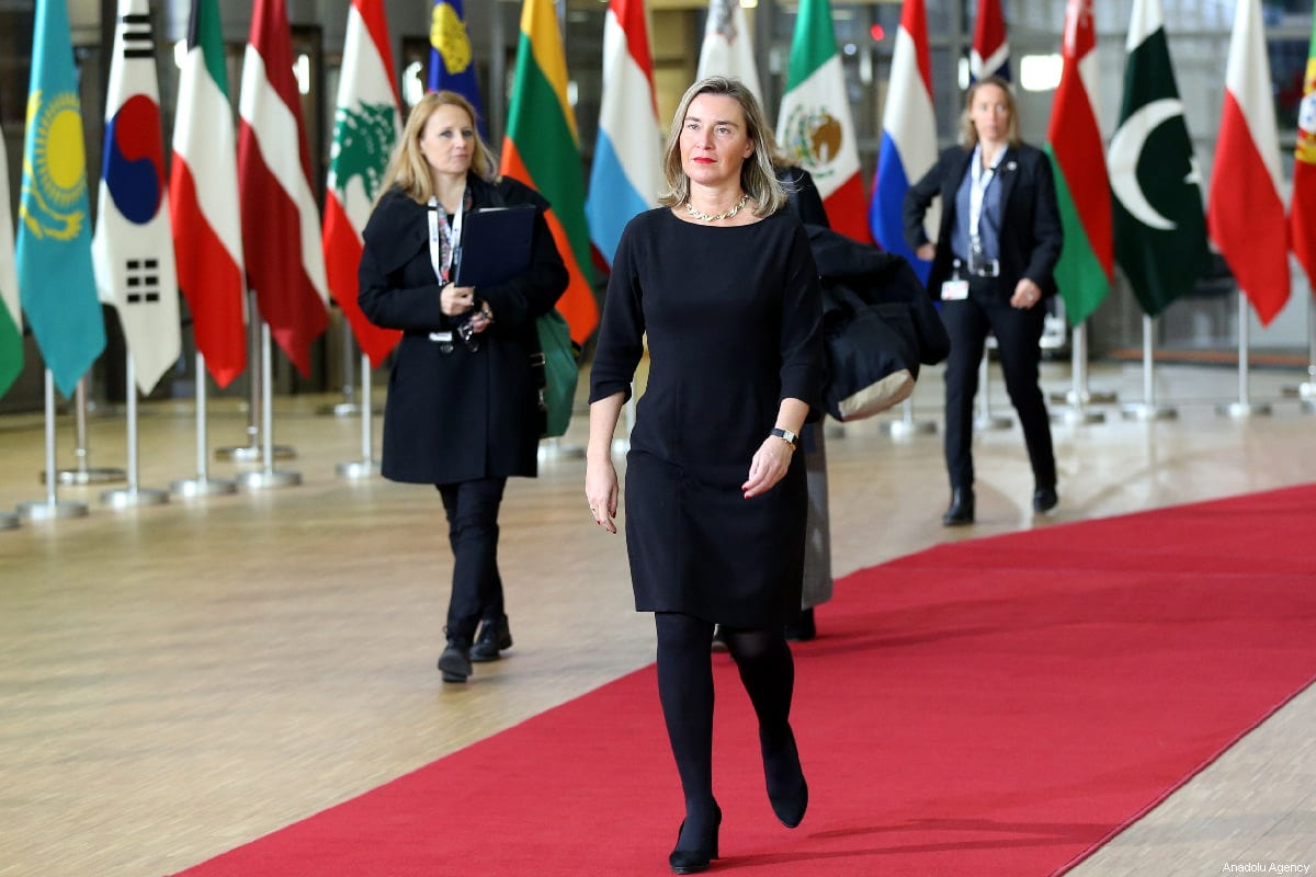 """High Representative of the European Union for Foreign Affairs and Security Policy, Federica Mogherini attends the conference titled """"Supporting the Future of Syria and Region"""" in Brussels, Belgium on March 14, 2019 [Dursun Aydemir / Anadolu Agency]"""