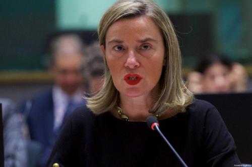 High Representative of the European Union for Foreign Affairs and Security Policy, Federica Mogherini in Brussels, Belgium on 14 March 2019 [Dursun Aydemir/Anadolu Agency]