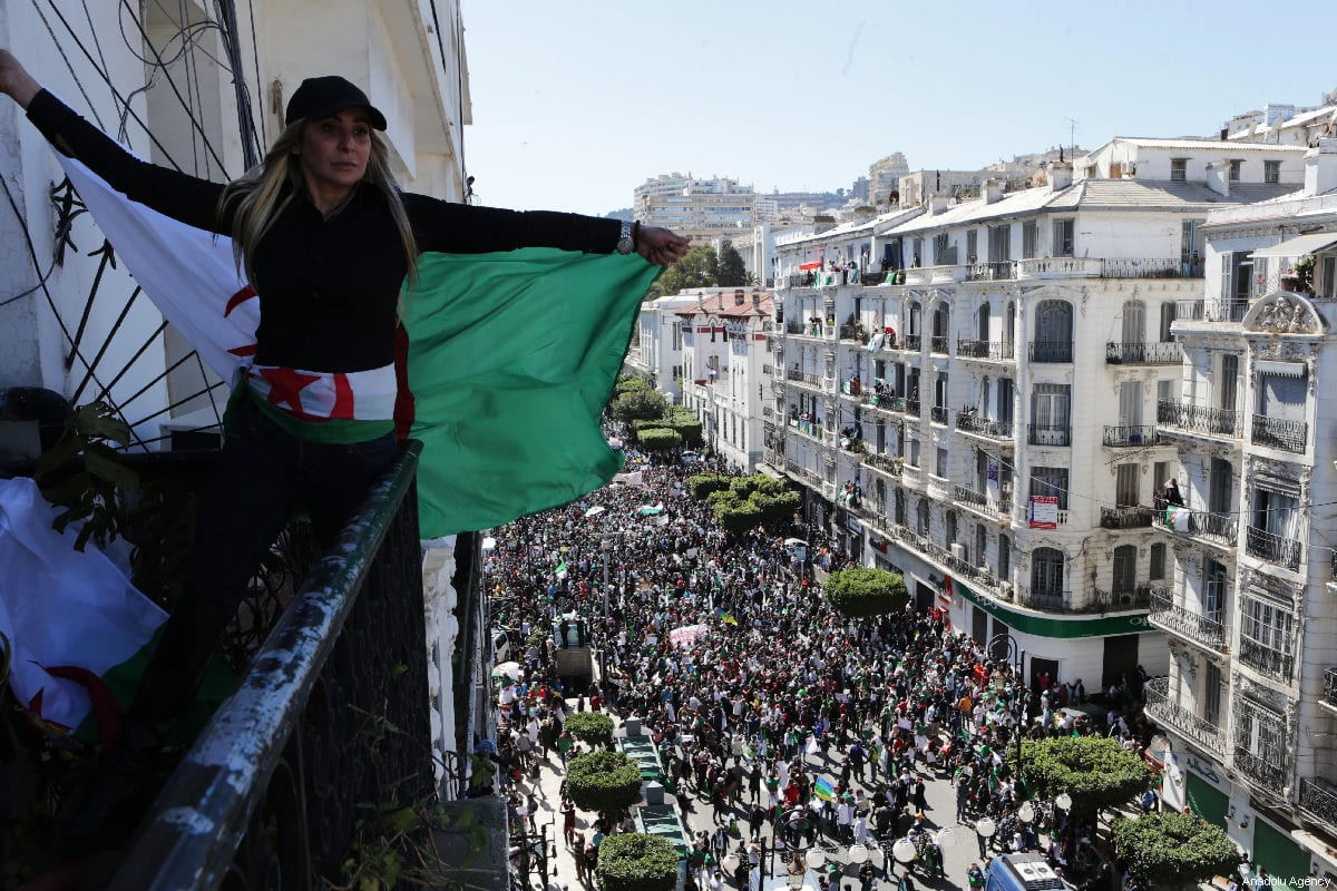 Thousands of people stage a protest march against President Abdelaziz Bouteflika's decision to postpone the presidential elections in Algiers, Algeria on March 15, 2019 [Farouk Batiche / Anadolu Agency]