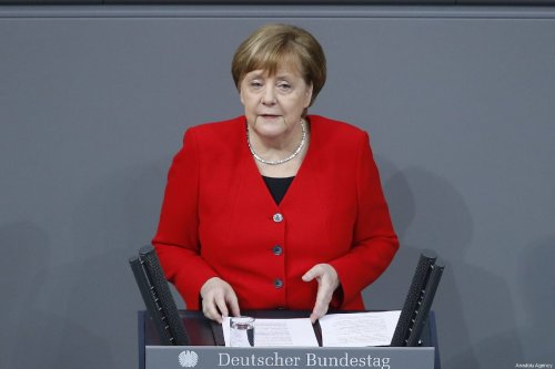 German Chancellor Angela Merkel answers questions during a session at the German Parliament, the Bundestag, in Berlin, Germany on March 21, 2019 [Abdülhamid Hoşbaş - Anadolu Agency]