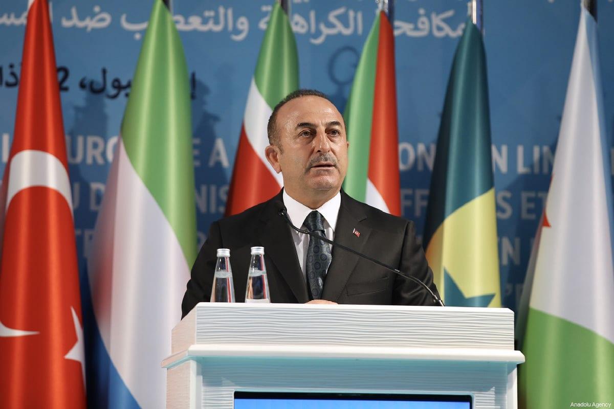 Turkish Foreign Minister Mevlut Cavusoglu in Istanbul, Turkey on 22 March 2019 [Fatih Aktaş/Anadolu Agency]