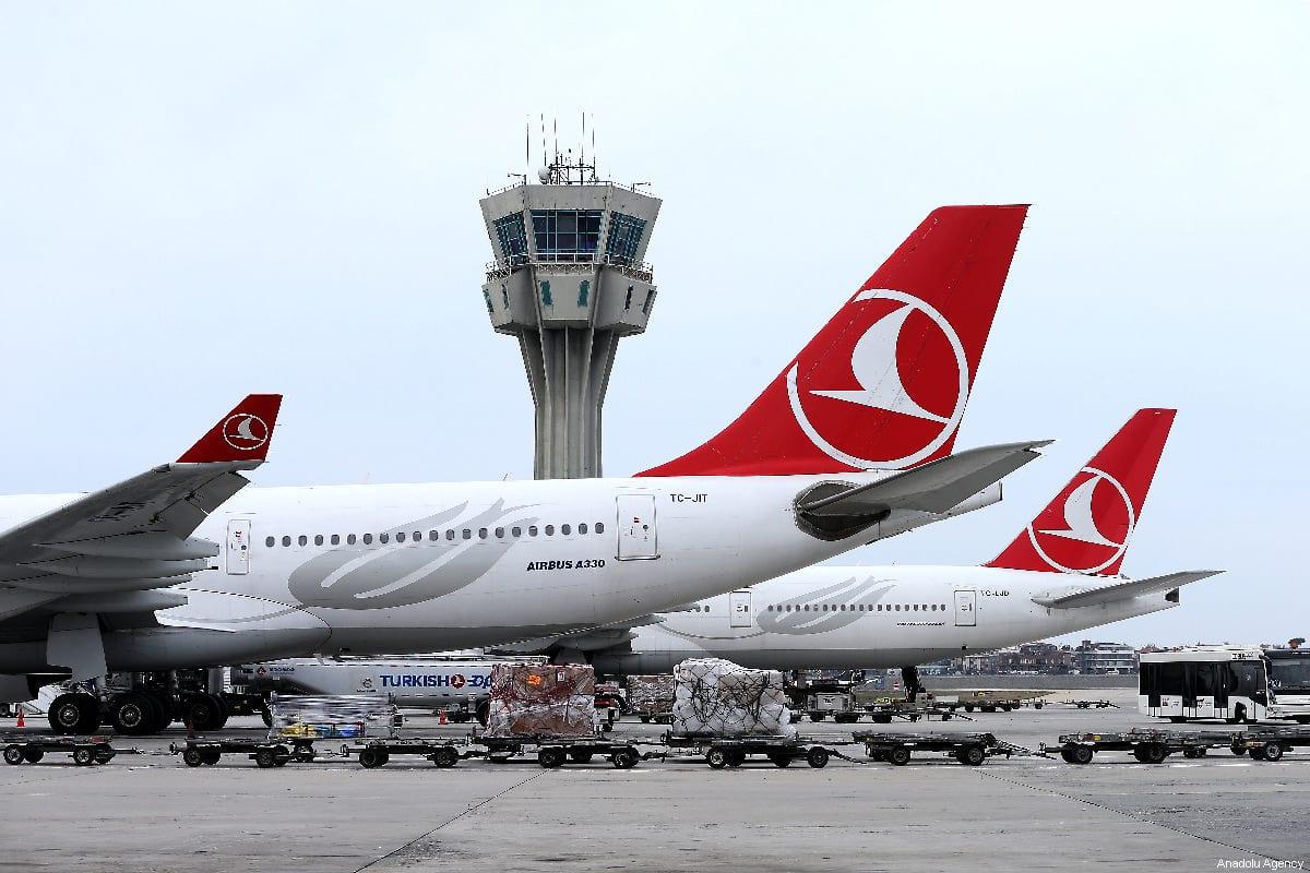 Turkish Airlines passenger planes at Ataturk Airport in Istanbul, Turkey on 22 March, 2019 [İsa Terli/Anadolu Agency]