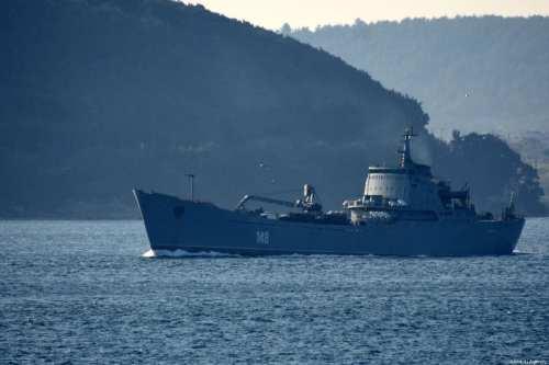 Russian navy warship [Burak Akay/Anadolu Agency]