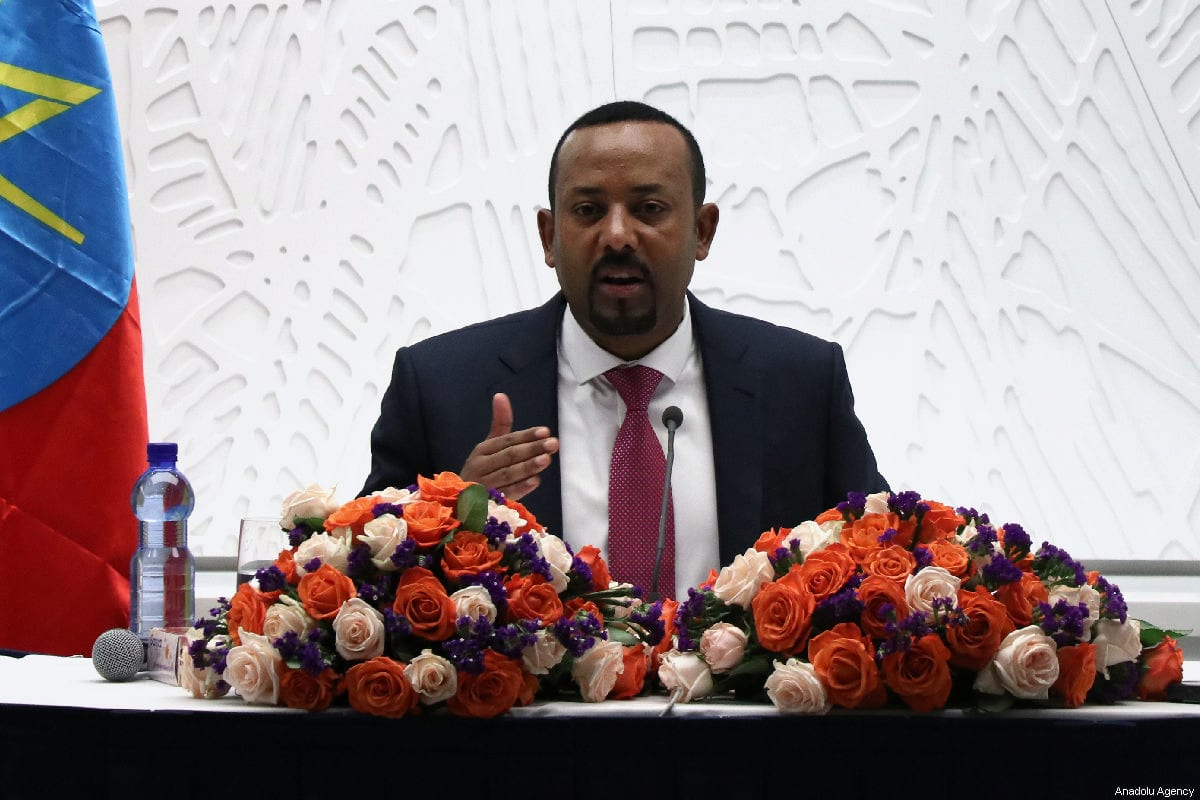 Prime Minister of Ethiopia Abiy Ahmed speaks during a press conference in Addis Ababa, Ethiopia on 28 March 2019. [Mohammed Abdu Abdulbaqı - Anadolu Agency]