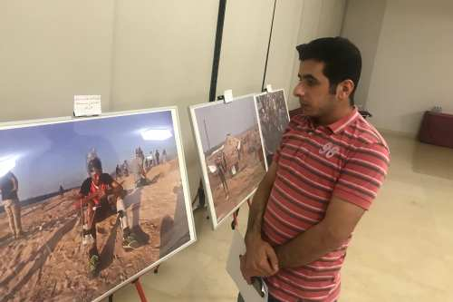 MEMO photographer from the Gaza Strip Mohammed Asad is in Qatar to display his work covering the popular March of Return protests [Mohammed Asad/Middle East Monitor]