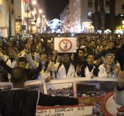Protest march in Morocco against abolition of free education