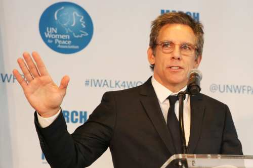 Ben Stiller speaks onstage at the UN Women For Peace Association 2019 Awards Luncheon at United Nations Headquarters on March 01, 2019 in New York City. [Noa Grayevsky/Getty Images for RSL Mgmt]