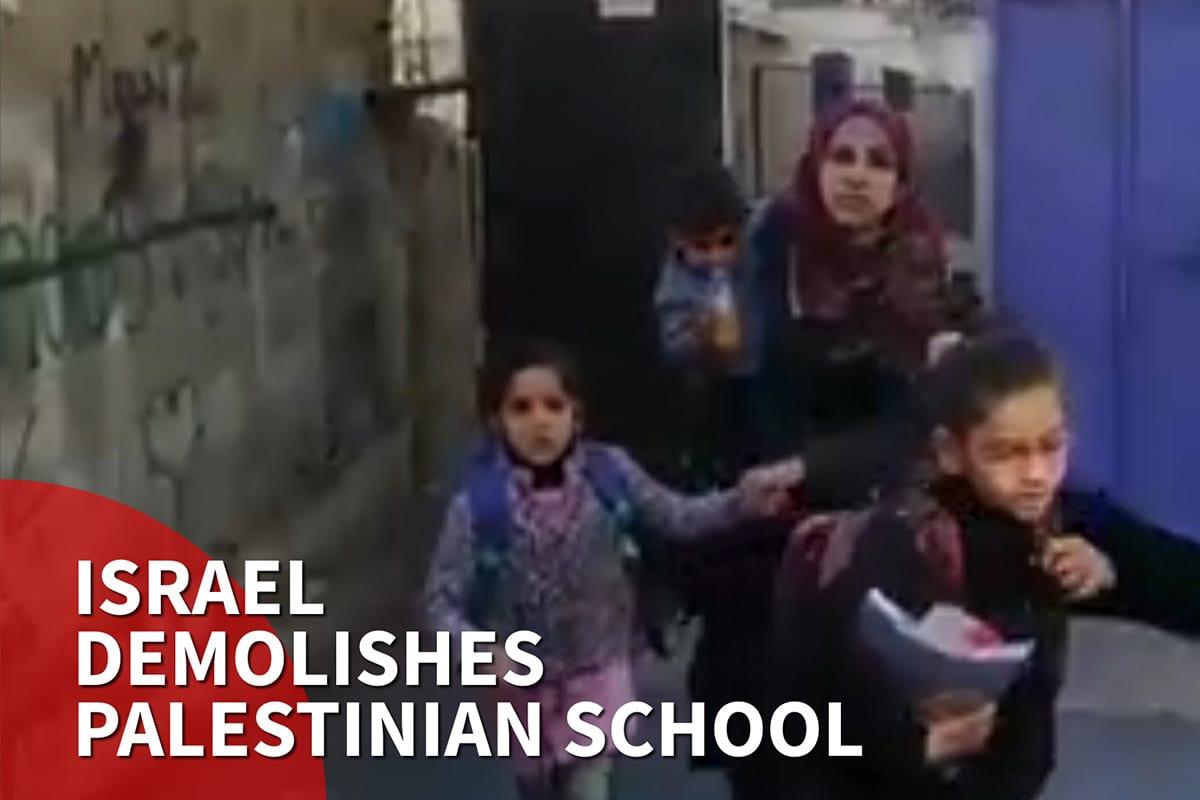 Thumbnail - Israel demolishes Palestinian school