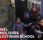 Israel tears down Palestinian school in Jerusalem