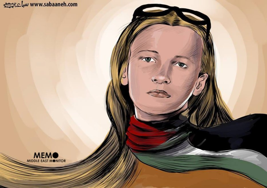 Palestine remembers Rachel Corrie - Cartoon [Sabaaneh/MiddleEastMonitor]