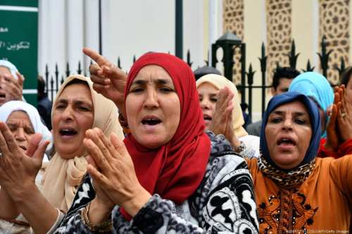 Women in Rabat, Morocco on 30 March 2019 [ALBERTO PIZZOLI/AFP/Getty Images]