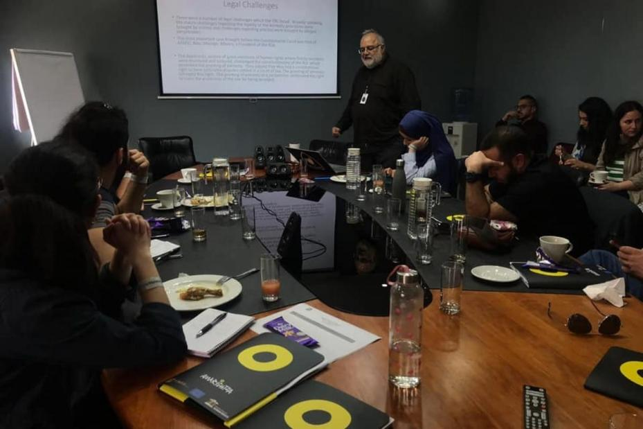 A group of Palestinian youth from Palestine, US, the Arab region, Europe and South Africa come together for a study programme in Johannesburg, South Africa