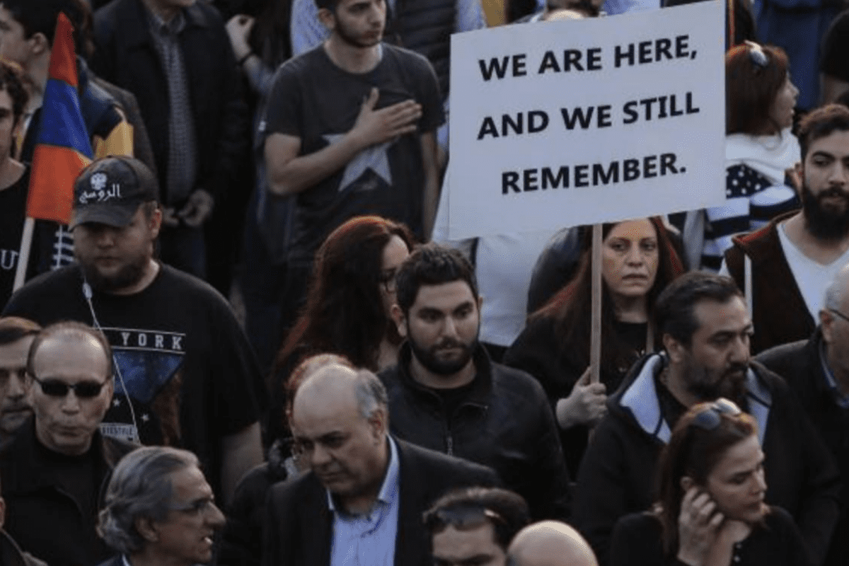 Armenia community demonstration in remembrance of the 1915 genocide [Twitter]
