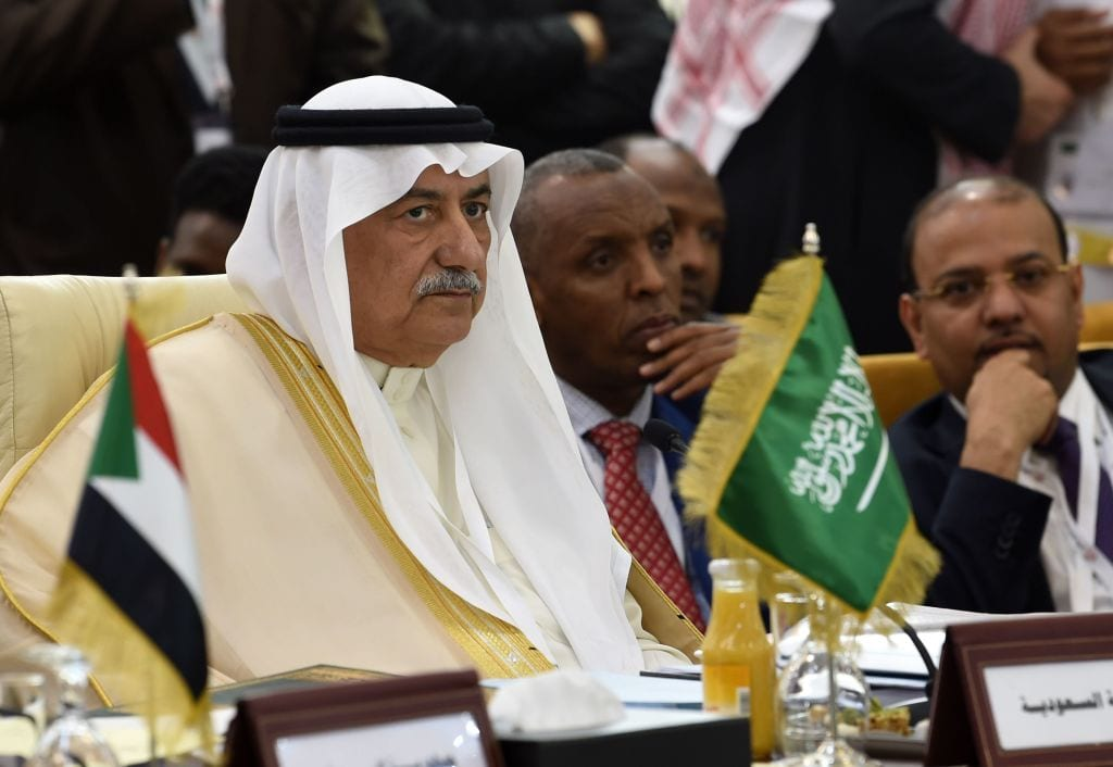 Saudi Foreign Minister Ibrahim al-Assaf attends a preparatory meeting for foreign ministers in Tunis on 29 March, 2019 [FETHI BELAID/AFP/Getty Images]