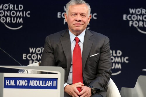 Jordan's King Abdullah II looks on as he sits on a panel during the 2019 World Economic Forum on the Middle East and North Africa, at the King Hussein Convention Centre at the Dead Sea, in Jordan on 6 April, 2019 [KHALIL MAZRAAWI/AFP/Getty Images]