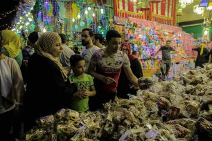 Ramadan lanterns also called fanouses, are on sale at a market ahead of Muslims' Holy Month of Ramadan at Sayyida Zaynab neighborhood of Cairo in Egypt on May 4, 2019. Ramadan lanterns are decorative lanterns crafted specifically for the holy month. ( Ahmed Al Sayed - Anadolu Agency )