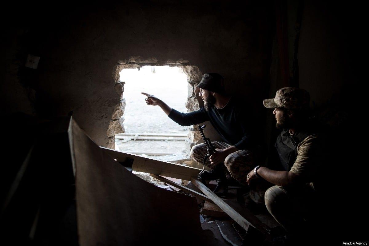 Libyan National Accord Government troops in Tripoli, Libya on 15 May 2019 [Amru Salahuddien/Anadolu Agency]