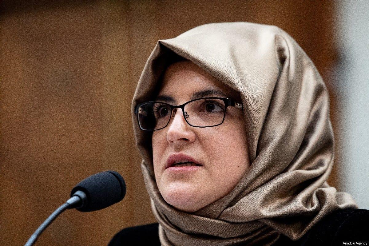 The fiancée of murdered Saudi Arabian journalist Jamal Khashoggi, Hatice Cengiz in Washington, US on 16 May 2019 [Yasin Öztürk/Anadolu Agency]