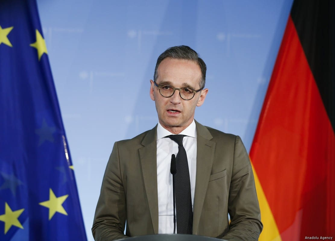 German Foreign Minister Heiko Maas speaks during the weekly press conference in Berlin on 8 May, 2019 [Abdülhamid Hoşbaş/Anadolu Agency]