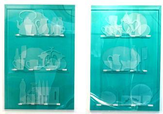 Eliassaa 'Sacred Showcase' (2018) Plexiglass and Forex mix technique