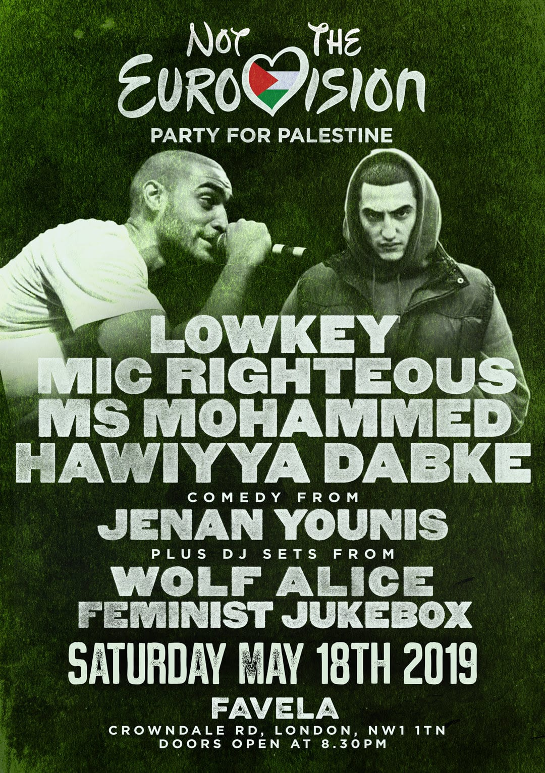 Not the Eurovision: Party for Palestine