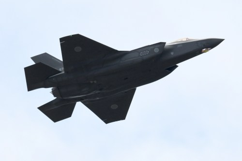 F-35A fighter aircraft of the Japan Air Self-Defense Force [Kazuhiro NOGI/AFP/Getty]