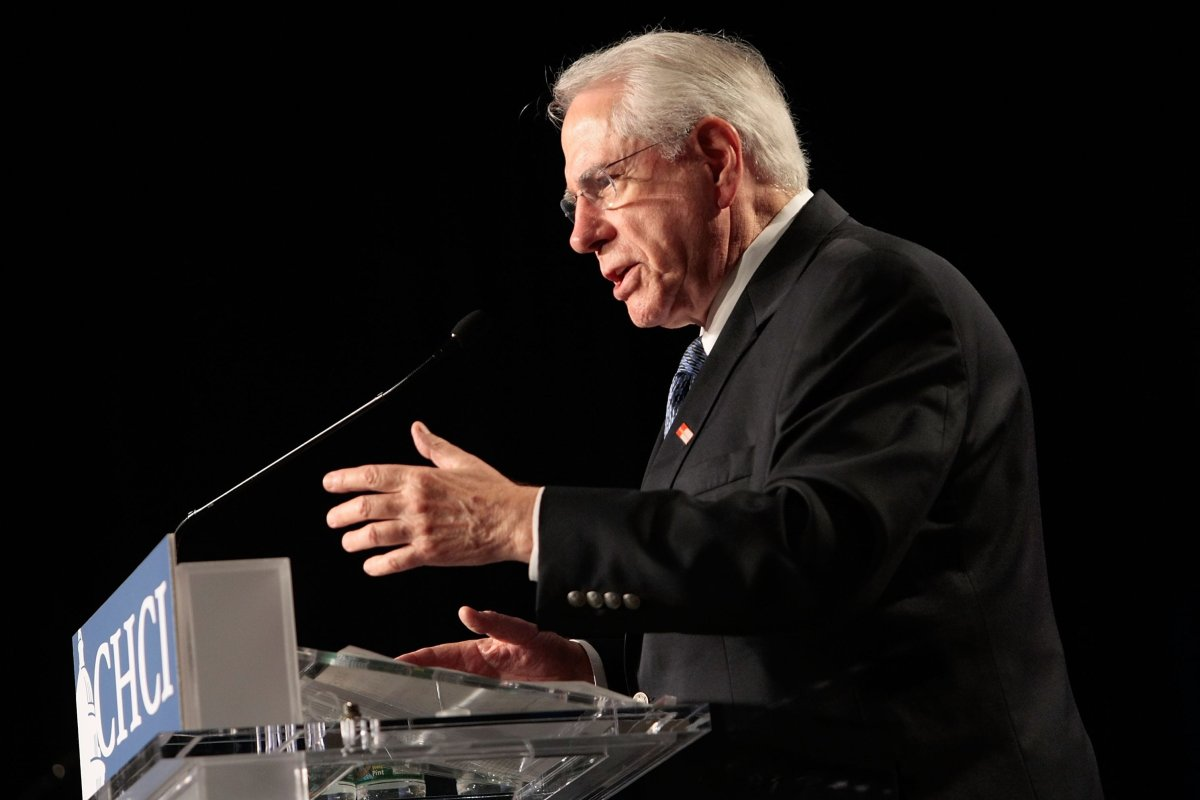 Democratic US Presidential hopeful and former Sen. Mike Gravel (D-AK) speaks during a presidential candidates forum of the Congressional Hispanic Caucus Institute (CHCI) 2007 Public Policy Conference 3 October 3, 2007 in Washington, DC. [Alex Wong/Getty Images]