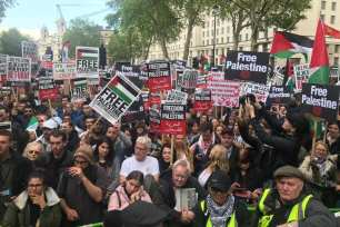Thousands march in London to mark the 71st anniversary of the Palestinian Nakba, on May 11, 2019 [image provided]