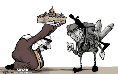 When the Arab World sells the Holy City - Cartoon [Sabaaneh/MiddleEastMonitor]