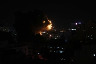Israel shelled the Gaza Strip on 4 May 2019 killed five Palestinians including a pregnant mother and her 14-month-old baby [Mohammed Asad/Middle East Monitor]
