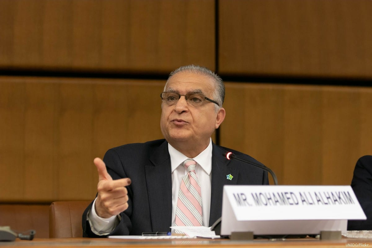 Iraqi Foreign Minister Mohamed Ali Alhakim on 14 May 2018 [UNIDO/Flickr]