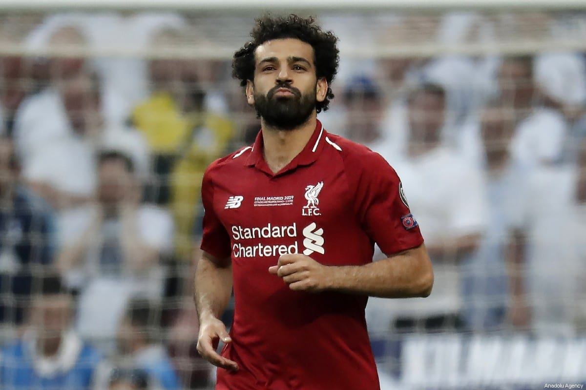 Mohamed Salah of Liverpool celebrates after scoring a goal during the UEFA the Champions League final match between Tottenham and Liverpool at the Wanda Metropolitano in Madrid, Spain on 1 June 2019. [Burak Akbulut - Anadolu Agency]