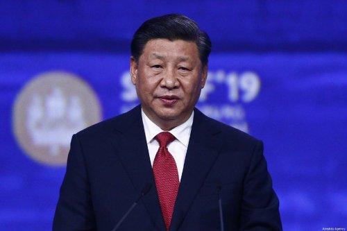 Chinese President Xi Jinping in Russia on 7 June 2019 [Sefa Karacan/Anadolu Agency]