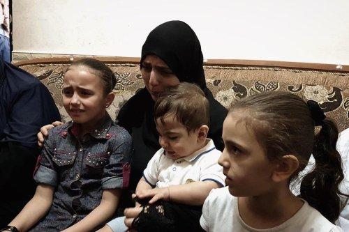 Gaza medic killed by Israel, left bereaved wife, 4 children alone, in Gaza, on 12 June 2019 [Loai El-Agha.]