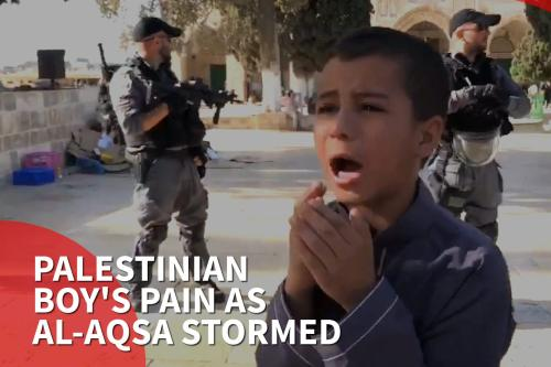 Thumbnail: Palestinian boy's pain as Al-Aqsa Mosque is stormed