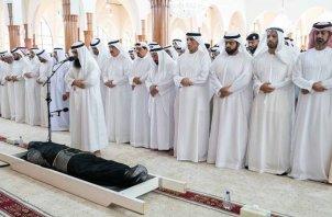 Funeral of Sheikh Khalid Bin Sultan Al Qasimi, son of the ruler of Sharjah in UAE on 3 June 2019 [hhshkdrsultan/Instagram]