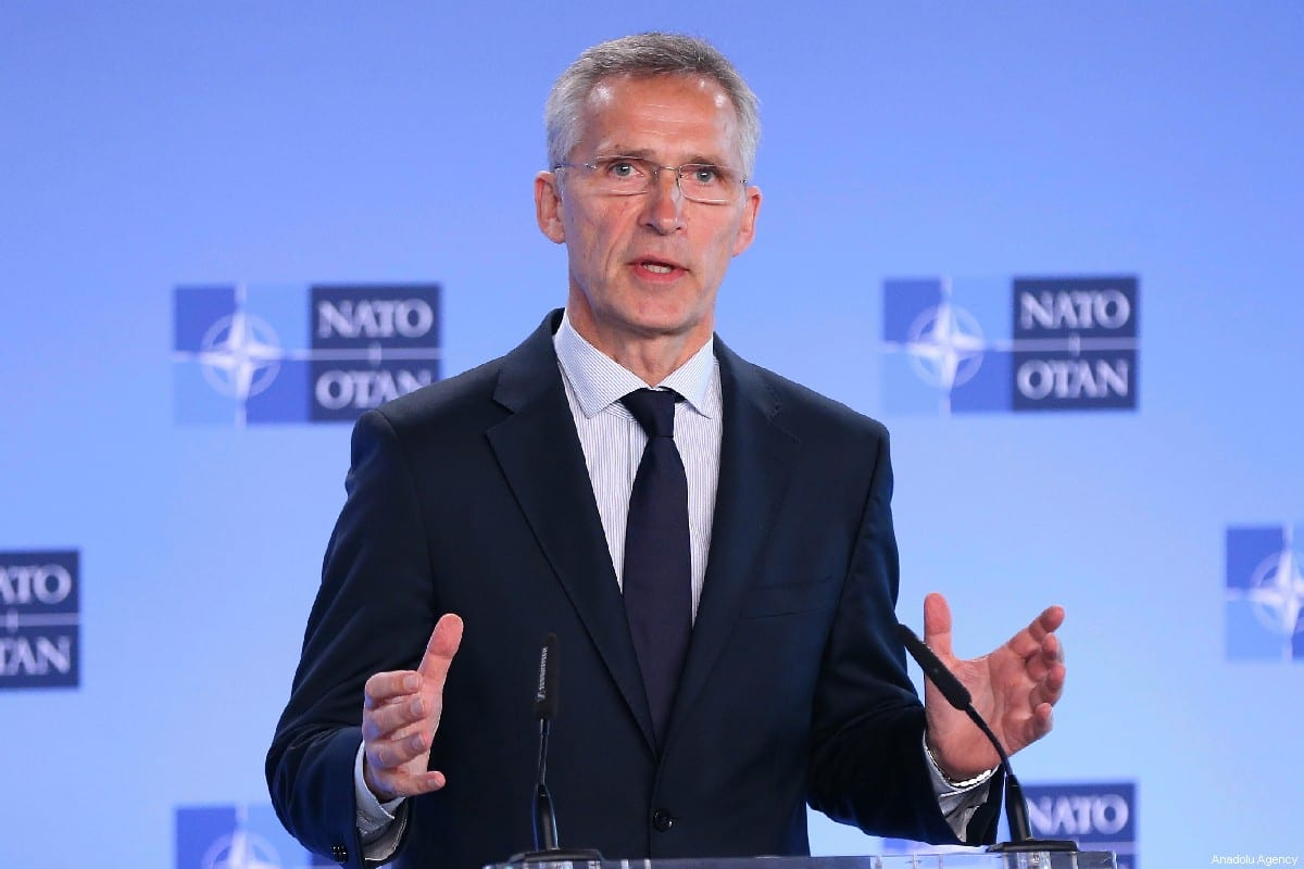 NATO Secretary General, Jens Stoltenberg speaks during a press conference in Brussels, Belgium on July 05, 2019 [Dursun Aydemir / Anadolu Agency]