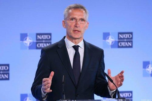 NATO Secretary General, Jens Stoltenberg speaks during a press conference in Brussels, Belgium on July 05, 2019 [Dursun Aydemir / Anadolu Agency]