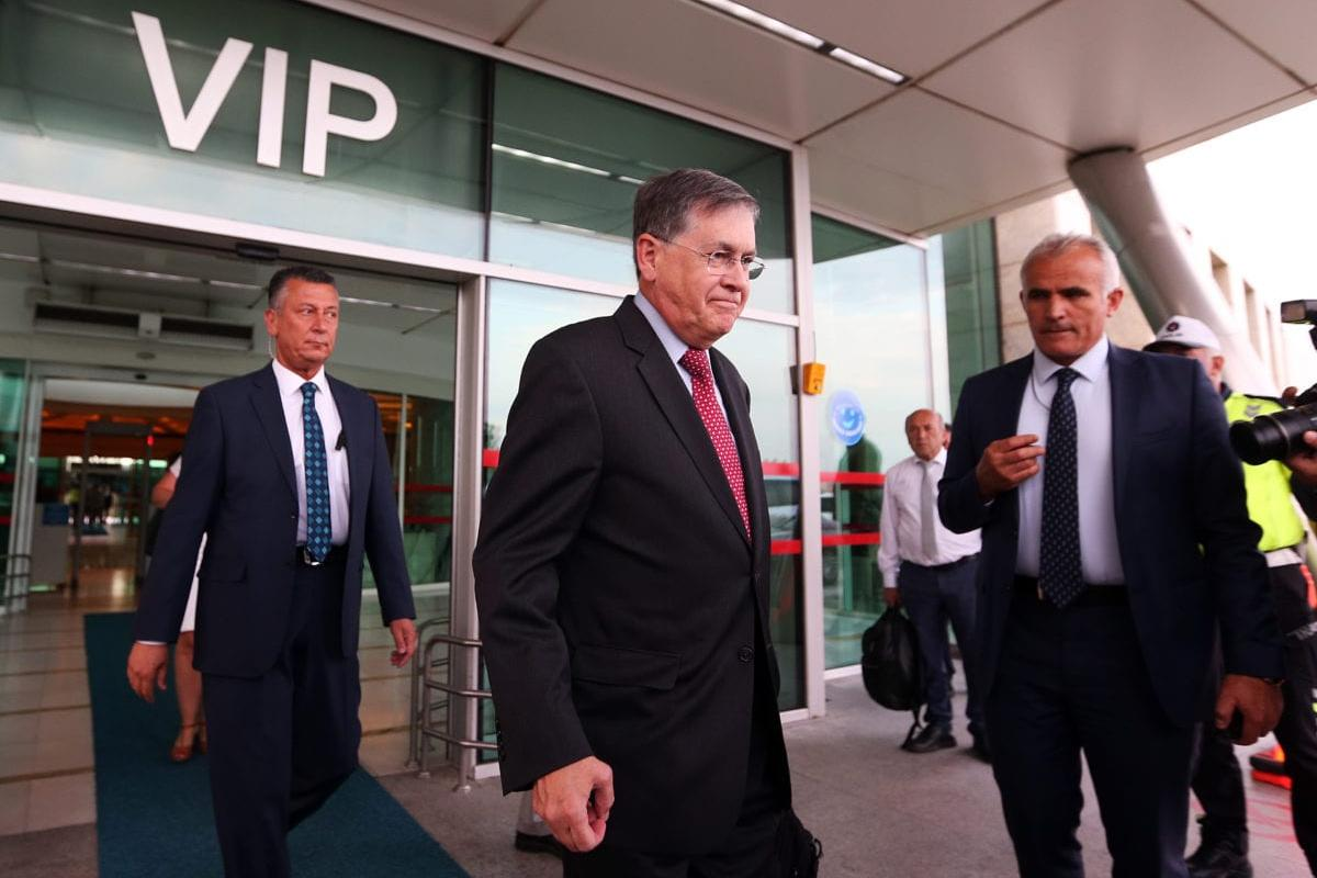 New US ambassador to Turkey David Satterfield is seen during his arrival at the Esenboga Airport in Ankara, Turkey on 10 July 2019. [Evrim Aydın - Anadolu Agency]