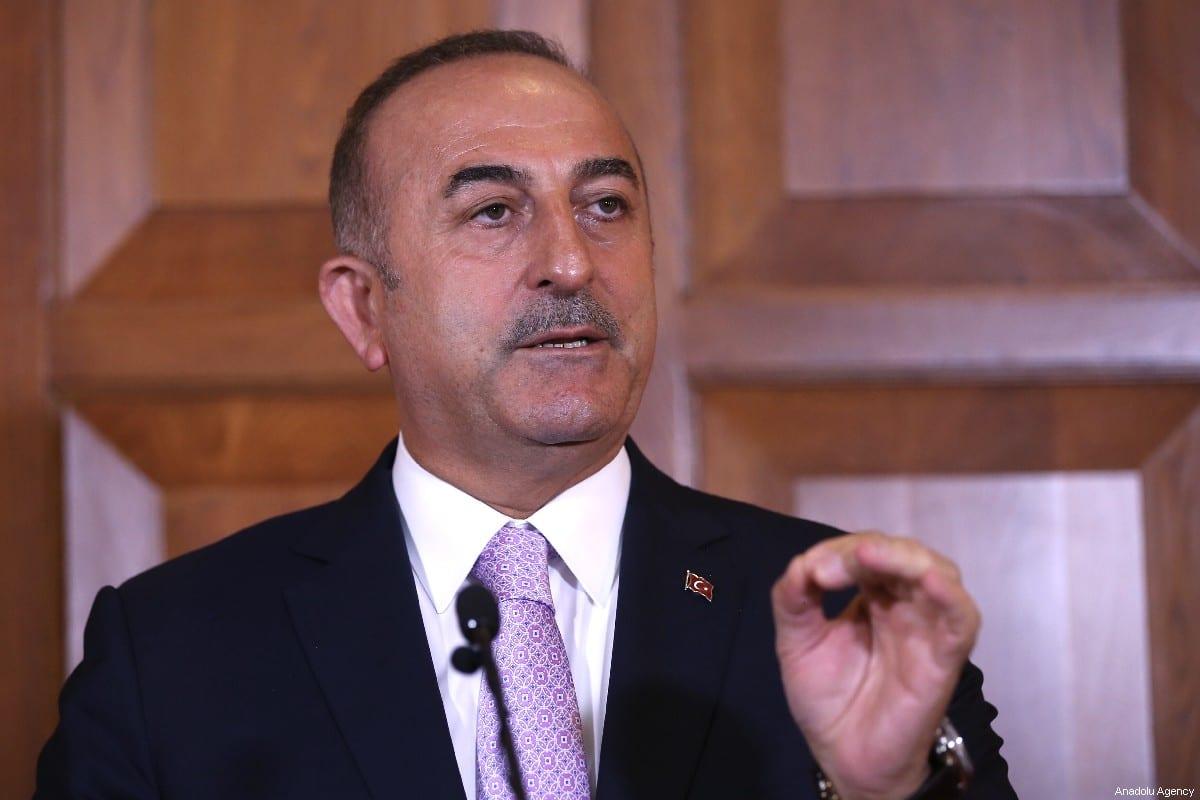 Minister of Foreign Affairs of Turkey, Mevlut Cavusoglu in Ankara, Turkey on 12 July 2019 [Fatih Aktaş/Anadolu Agency]