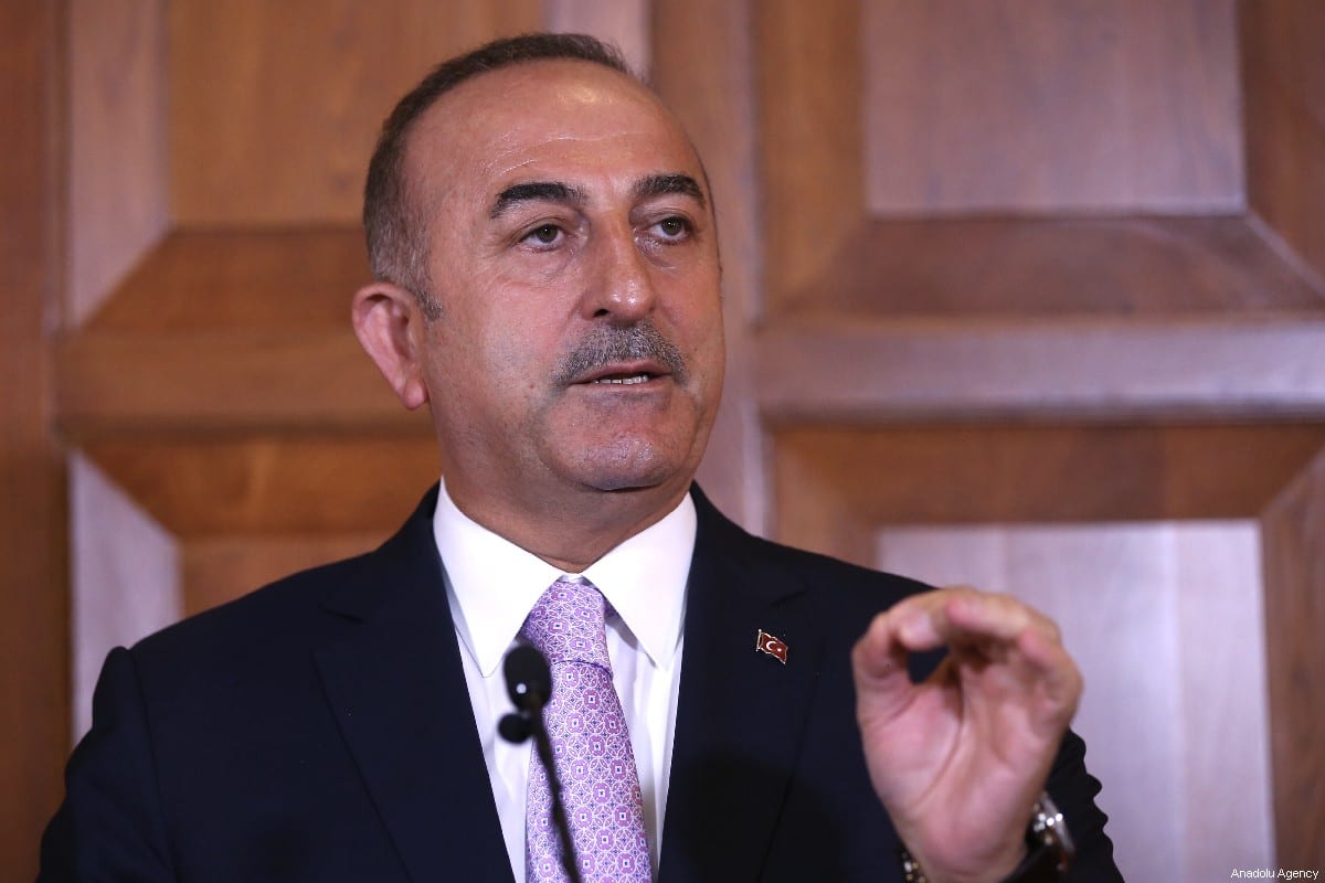 Minister of Foreign Affairs of Turkey, Mevlut Cavusoglu in Ankara, Turkey on 12 July 2019 [Fatih Aktaş/Anadolu Agency]