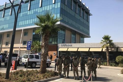 Security forces take measures after Turkish consulate employee was martyred in armed attack on a restaurant in Erbil, Iraq on 17 July 2019. [Yunus Keleş - Anadolu Agency]