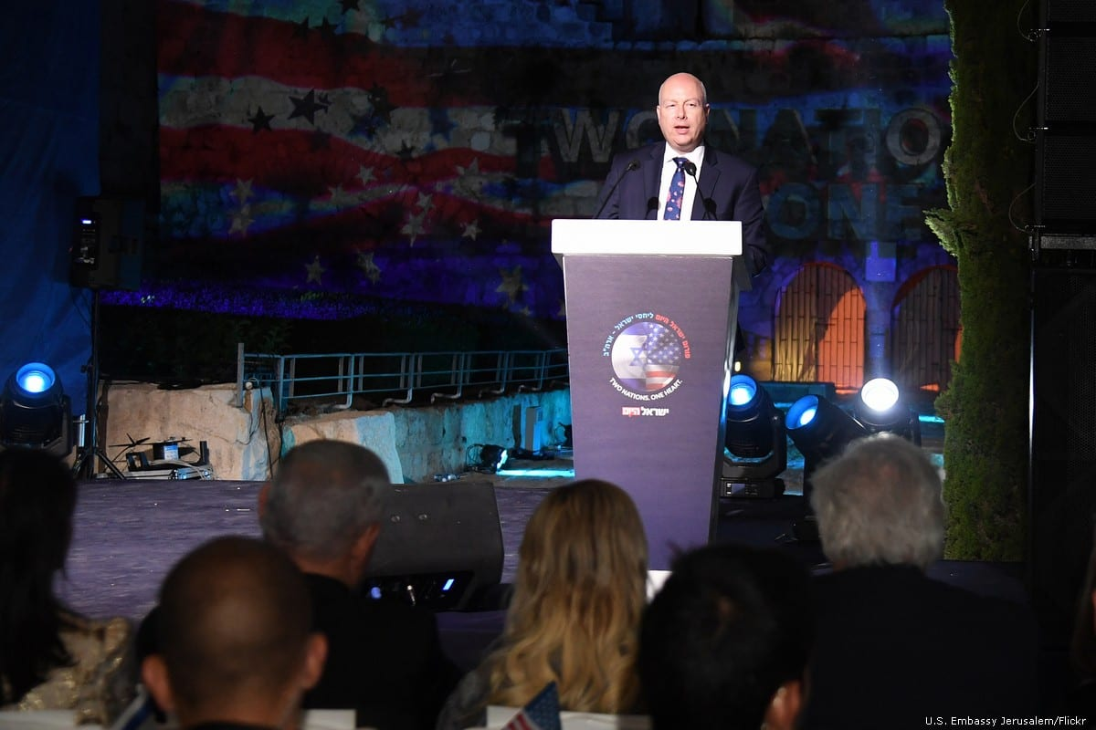 US special envoy to the peace process, Jason Greenblatt at the US Embassy in Jerusalem on 27 June 2019 [U.S. Embassy Jerusalem/Flickr]