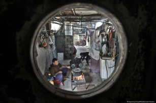 'This camp is becoming more like jail; depending on food aid. Despite that, eating a morsel dipped in dignity is better than humiliation at the hands of the US administration,' Abdul-Muti Zurob from Khan Younis refugee camp.